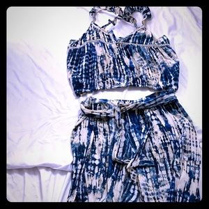 Boho Chic 2 piece tie died pants and top